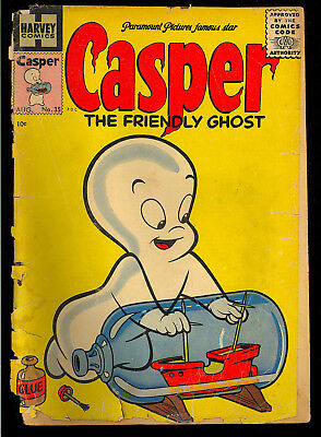 Casper the Friendly Ghost #35 Golden Age Harvey Comic 1955 FR