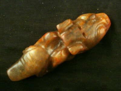 Chinese Old Jade *HongShan Culture Dragon* Carved Pendant M103