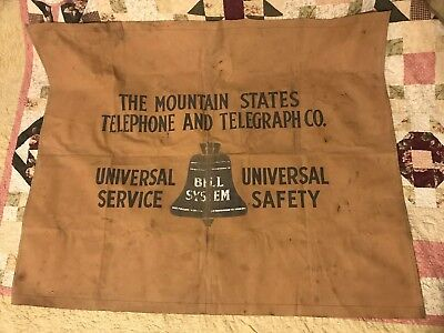 Vintage Bell Systems Ountain States Telephone & Telegraph Co Canvas Banner Tarp