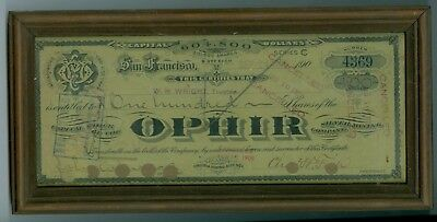 Sept 24 1908 OPHIR Silver Mining Co, Virginia Mining District, Nevada 100 Shares