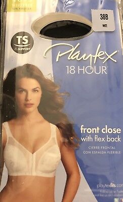 699ce276b27f6 Playtex 18 Hour Easier On Front-Close Wirefree Bra Flex Back Women Comfort  Strap
