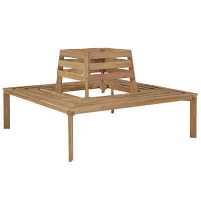 vidaXL Solid Acacia Wood Tree Bench 140x140x86cm Square Outdoor Furniture Seat