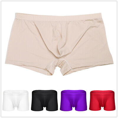 5af745fff9 US Mens Breathable Seamless Underwear Ice Silk Boxer Shorts Trunks  Underpants