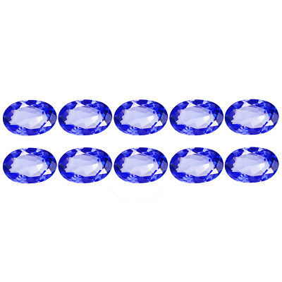 5.62Ct (10Pcs Lot) Incomparable Oval Cut 7 x 5 mm 100% Genuine AAA Tanzanite