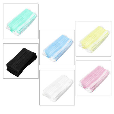 50pcs Disposable Medical Mouth Face Dust Mask Ear Loop Clinic Dental Surgical #