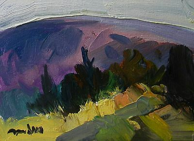 Jose Trujillo Art Oil Painting Impressionism Original Contemporary Mountain Art