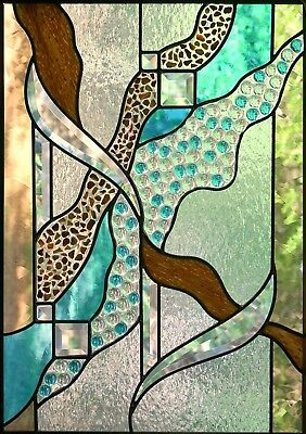 !  4 sheets 20x28cm transparent Window sticker Self Adhesive Stained Glass EE4