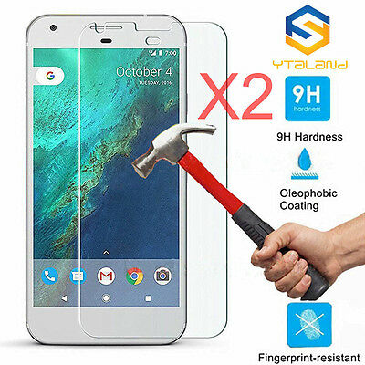 9H Premium Real Tempered Glass Screen Protector 2Pcs For Google Pixel / Pixel XL