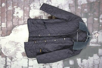 Barbour Childrens Liddesdale Blue Quilted Jacket Size M No.P429 22/1