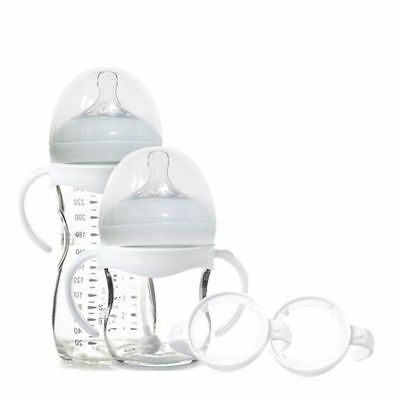 2 Pcs Baby Bottle Infant Grip Handle Natural Wide Mouth Feeding Popular