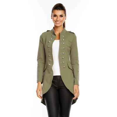 6066 Damen Jacke Military Admiral Uniform Blazer Blogger Knöpfe Mantel S M  L Xl.
