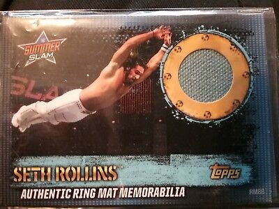 Wwe Slam Attax 10Th Edition Ring Mat Memorabilia Seth Rollins