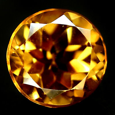 1.98 CT VVS NATURAL GOLDEN YELLOW BRAZIL CITRINE ROUND 8 mm.