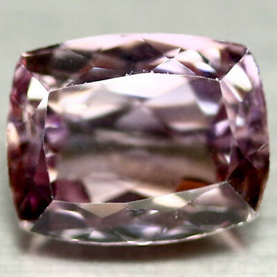 6.14 CT VVS NATURAL PURPLE GOLDEN BOLIVIA AMETRINE CUSHION 9 X 12 mm.