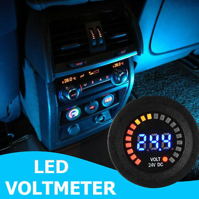 DC12V Car Motorcycle LED Panel Digital Voltage Socket Meter Display Voltmeter