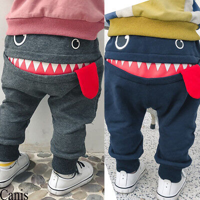 UK Kid Toddler Baby Boy Pants Bottom Joggy Leggings Trousers Cotton Clothes 0-4Y