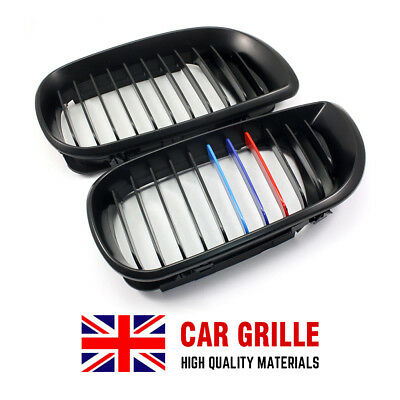 1 Pair Front Kidney Grilles Fits E46 3Series 4D Facelift Saloon Touring 02-05 UK