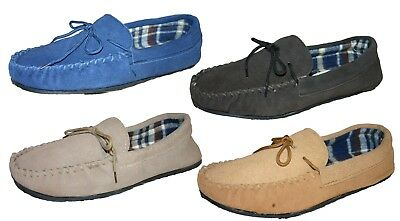 *SALE* Men's Boys Coolers LodgeMok Real Suede Mocassin Slippers 2nds