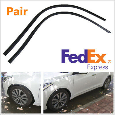 """Pair 46"""" Long 1.2"""" Wide Car Body Fender Flare Arch Extension Rubber Strips Trim"""