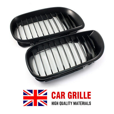 For 2002-2005 BMW E46 3-series 4-Door Sedan Black Front Kidney Grill Grilles UK