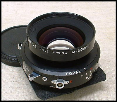 Nikon NIKKOR-W 240mm f/5.6 wide-angle lens in Copal covers 8 x 10 format!!
