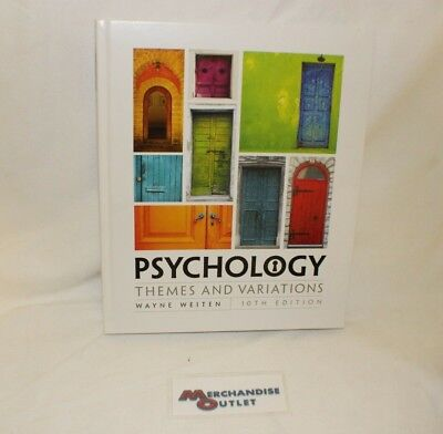 Psychology : Themes and Variations by Wayne Weiten (2016, Hardcover)