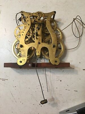 Antique Seth Thomas 8 Day Lyre Movement Weight Driven Ogee Triple Decker