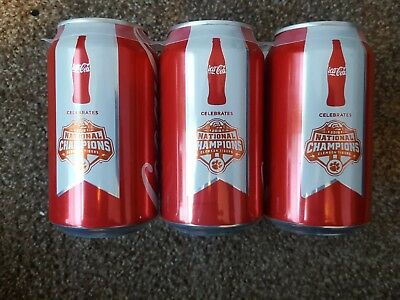 Clemson Tigers Coca-Cola 2018 2019 National Champions Championship 6 pack Cans