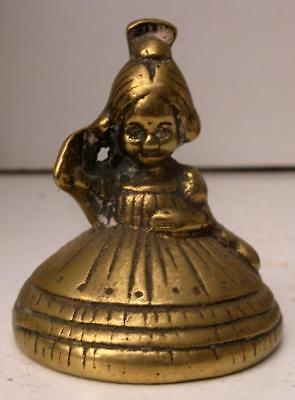 Old Vintage Brass Lady, Girl Crinoline Bell