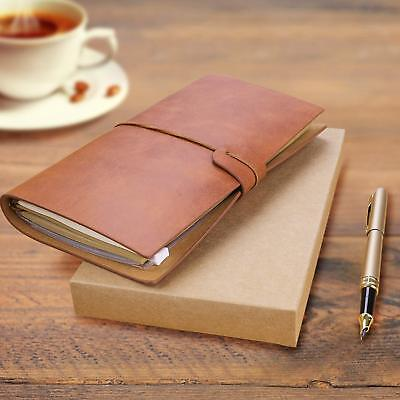 Vintage  Retro Journal Travel Leather Notepad Notebook Diary Memo Christmas Gift