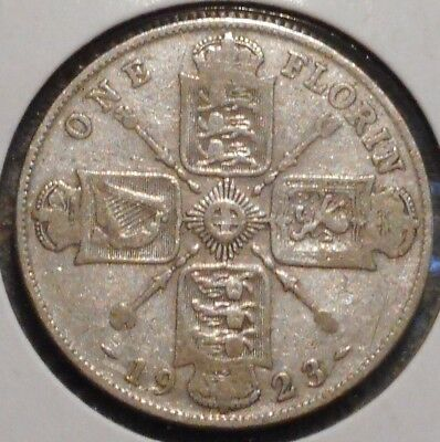 British Florin - 1923 - King George V - $1 Unlimited Shipping -07