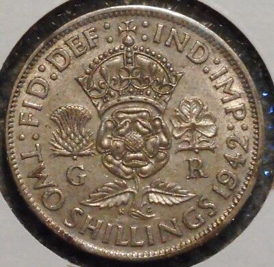 British Florin - 1942 - King George VI - $1 Unlimited Shipping -13