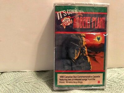 Sealed ! Hard to Find-Robert Plant Cassette It's Coming for You-'90 Canada Tour