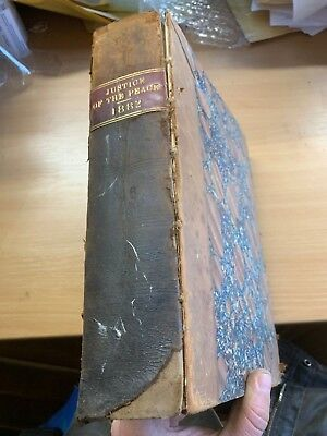"1882 Antique Law ""the Justice Of The Peace"" Vol Xlvi Large Heavy Leather Book"