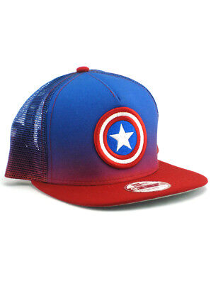 abf37678dd2 New Era Captain America 9fifty A-Frame Snapback Hat Adjustable Marvel  Comics NWT