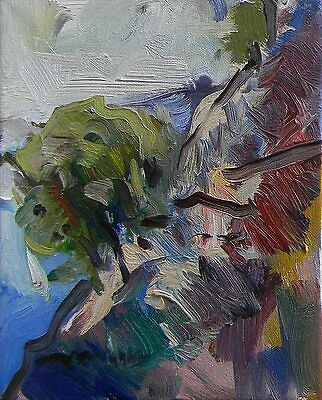 Jose Trujillo Oil Painting Abstract Original Impressionism Hillside Modernist Nr