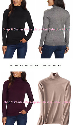 fa899a3d1f ANDREW MARC WOMENS Turtleneck Long Sleeve Sweater Ladies