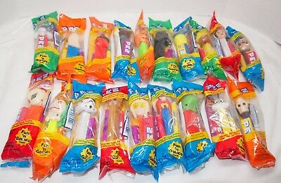 Lot of 19 New Old Stock Pez Collectibles, Unopened, 1990's, Mixed Variety