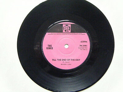 """THE KINKS 7"""" TIL THE END OF THE DAY / Where Have All The Good Times Gone 60s POP"""