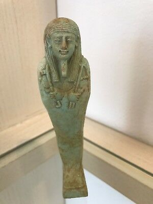 Egyptian Late Kingdom Faience Ushabti, Circa 664-525 BC, includes Certificate