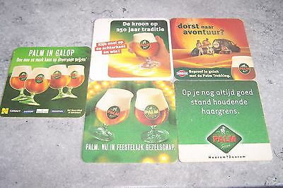 Lot De 5 Sous-Bocks - Biere - [ Palm ] - 5 Bierviltjes