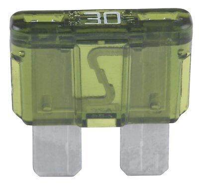 ATC-30 Fuse Auto Fast Acting 30A 19.1x19.3x5.25mm Plastic-Green Blade 32 VDC