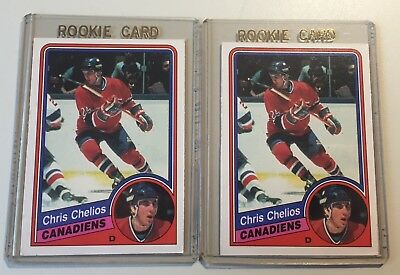 LOT of 2 1984-85 OPC O PEE CHEE #259 ROOKIE CARD  CHRIS CHELIOS MONTREAL