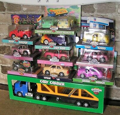 The Chevron Car Lot Of 24 Vintage Toys From 1996 To 2003 New In Box