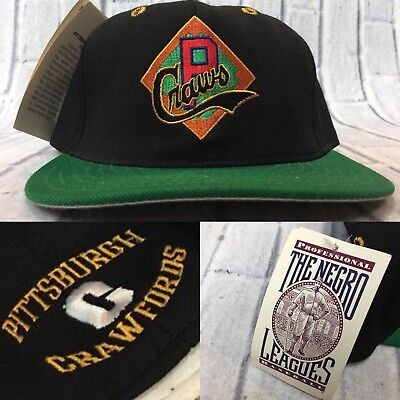 90s VTG nwt PITTSBURGH CRAWFORDS NEGRO LEAGUE Fitted Hat 7 1/4 Wool Made USA