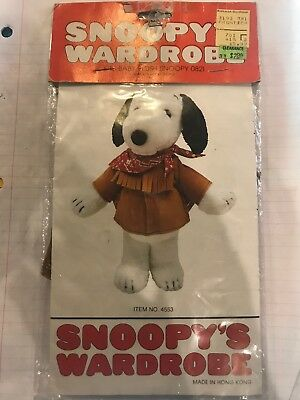 Vintage Snoopy's Wardrobe Cowboy Outfit For Baby Plush Snoopy 0821