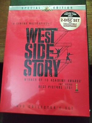 West Side Story / Factory Sealed 2-Disc Set DVD w. Collectable Scrapbook-Special