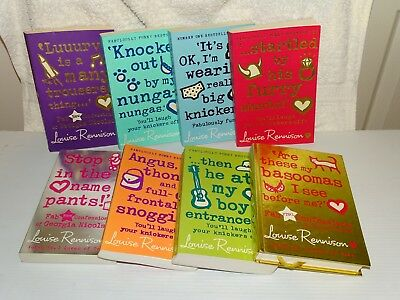 Louise Rennison Series 8 Books, Incl. Are These My Basoomas I See Hardback Vgc