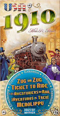 Ticket to Ride; USA 1910 Board Game Expansion