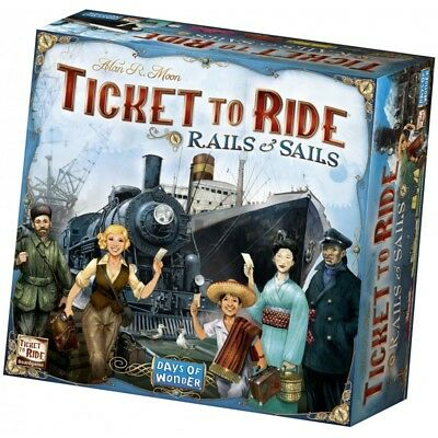 Ticket to Ride Rails And Sails - Strategy Board Game Expansion